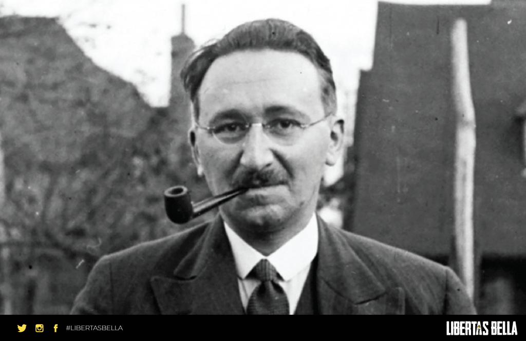Friedrich Hayek quotes - grayscale version of Friedrich Hayek with a pipe in his mouth