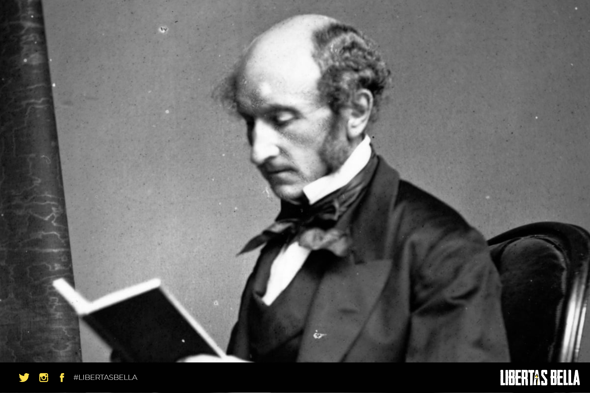 John Stuart Mill Quotes - John stuart mill reading a book in black and white