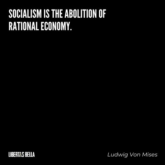 """Ludwig Von Mises Quotes - """"Socialism is the abolition of rational economy."""""""