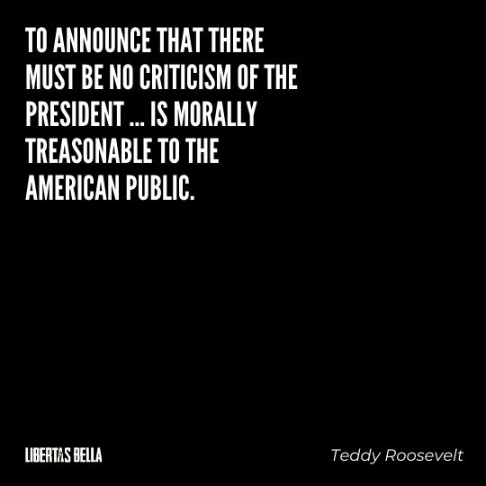 """Teddy Roosevelt Quotes - """"To announce that there must be no criticism of the president... """""""