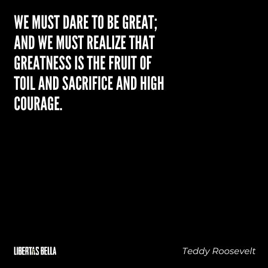 """Teddy Roosevelt Quotes - """"We must dare to be great; and we must realize that greatness is the fruit of toil..."""""""