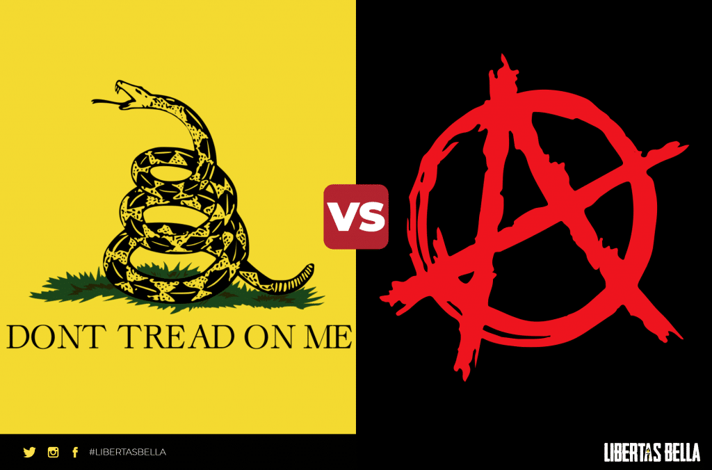 libertarianism vs anarchism