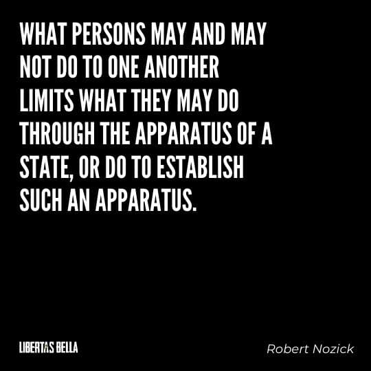 """Robert Nozick Quotes - """"What persons may and may not do to one another limits what they may do through the apparatus of a state..."""""""