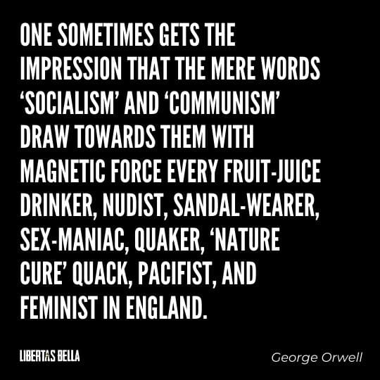 """1984 Quotes - """"One sometimes gets the impression that the mere words 'Socialism' and 'Communism' draw towards them..."""""""