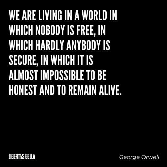 """1984 Quotes - """"We are living in a world in which nobody is free, in which hardly anybody is secure..."""""""
