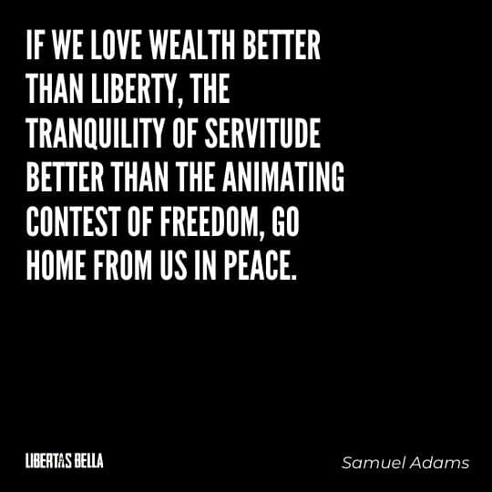 """Liberty Quotes - """"If we love wealth better than liberty, the tranquility of servitude better than the animating contest of freedom..."""""""