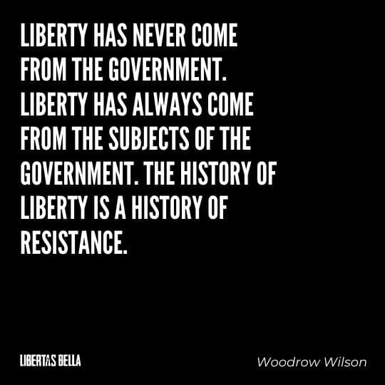 """Liberty Quotes - """"Liberty has never come from the government. Liberty has always come from the subjects of the government..."""""""
