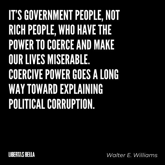 """Walter E. Williams Quotes - """"It's government people, not rich people, who have the power to coerce and make..."""""""