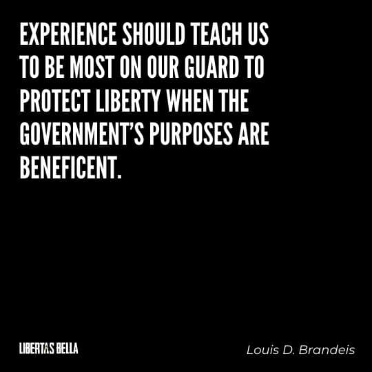 """Liberty Quotes - """"Experience should teach us to be most on our guard to protect liberty when the government's purposes are beneficent..."""""""