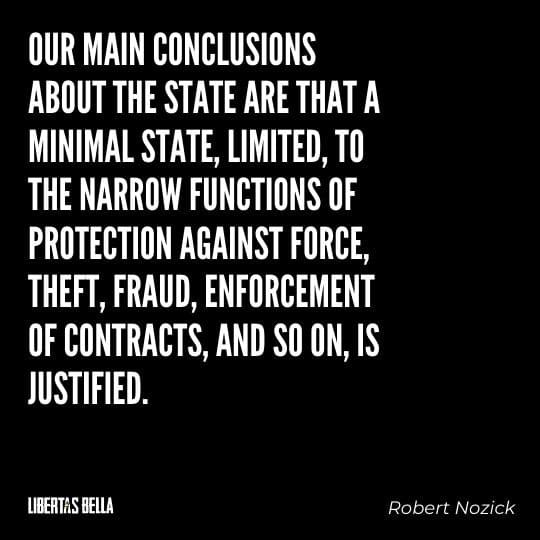 """Robert Nozick Quotes - """"Our main conclusions about the state are that a minimal state, limited, to the narrow functions of protection against force..."""""""