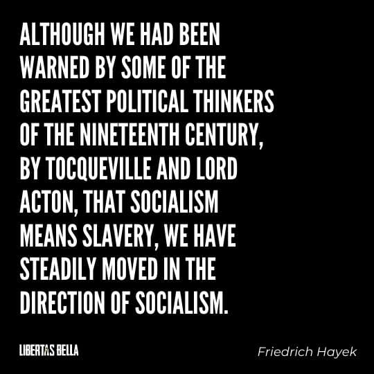 """Hayek Quotes - """"Although we had been warned by some of the greatest political thinkers of the nineteenth century..."""""""