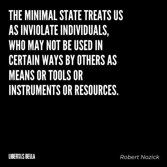 """Robert Nozick Quotes - """"The minimal state treats us as inviolate individuals, who may not be used..."""""""