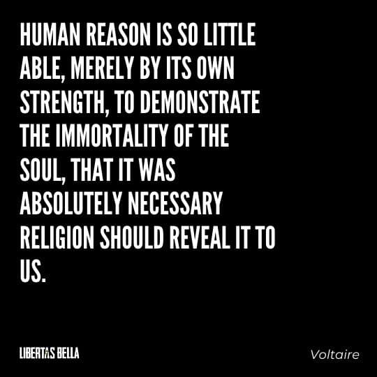 """Voltaire Quotes - """"Human reason is so little able, merely by its own strength, to demonstrate the immortality of the soul..."""""""
