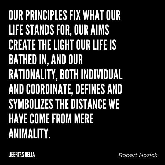 """Robert Nozick Quotes - """"Our principles fix what our life stands for, our aims create the light our life is bathed in, and our rationality..."""""""