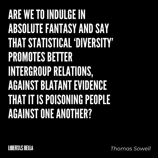 """Thomas Sowell Quotes - """"Are we to indulge in absolute fantasy and say that statistical 'diversity' promotes better..."""""""
