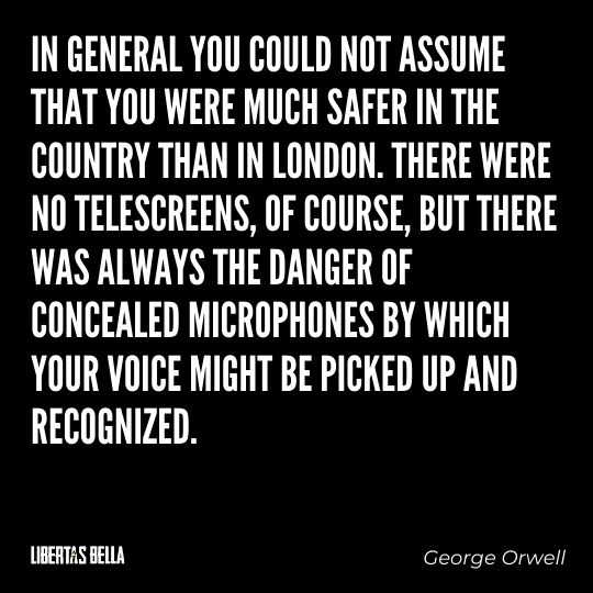 """1984 Quotes - """"In general you could not assume that you were much safer in the country than in London..."""""""