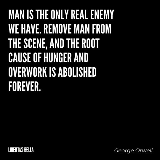 """1984 Quotes - """"Man is the only real enemy we have. Remove Man from the scene, and the root..."""""""