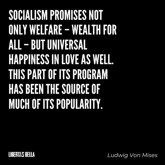 """Ludwig Von Mises Quotes - """"Socialism promises not only welfare – wealth for all – but universal happiness..."""""""