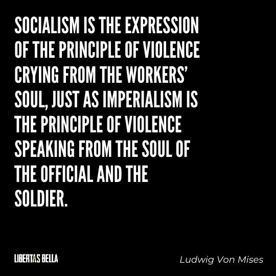 """Ludwig Von Mises Quotes - """"Socialism is the expression of the principle of violence crying from the workers' soul..."""""""