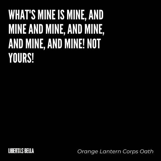 """Greed quotes - """"What's mine if mine, and mine and mine..."""""""