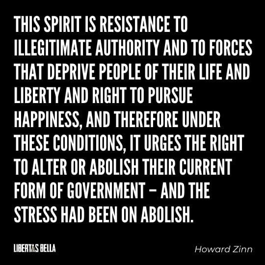 """Civil disobedience quotes - """"This spirit is resistance to illegitimate authority and to forces that deprive people..."""""""