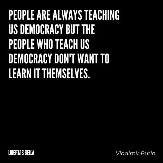 """democracy quotes - """"People are always teaching us democracy but the people who teach us democracy don't want to learn themselves."""""""