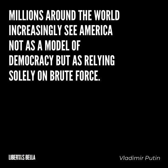 """democracy quotes - """"Millions around the world increasingly see America not as a model of democracy..."""""""