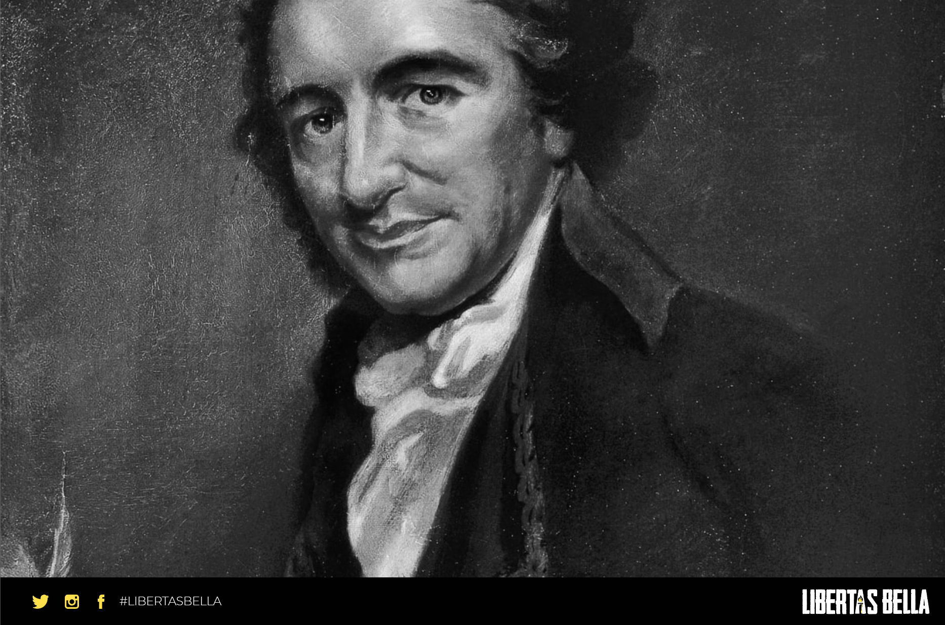 Thomas Paine Quotes - grayscale version of a painting of Thomas Paine