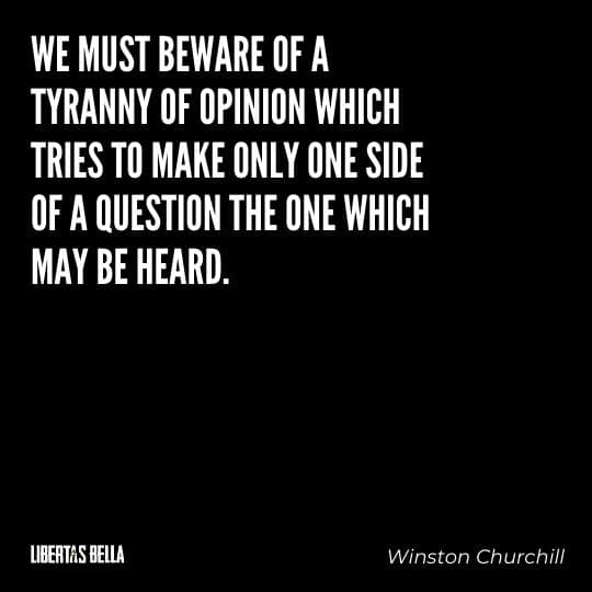 """Tyranny quotes - """"We must beware of a tyranny of opinion which tries to make..."""""""