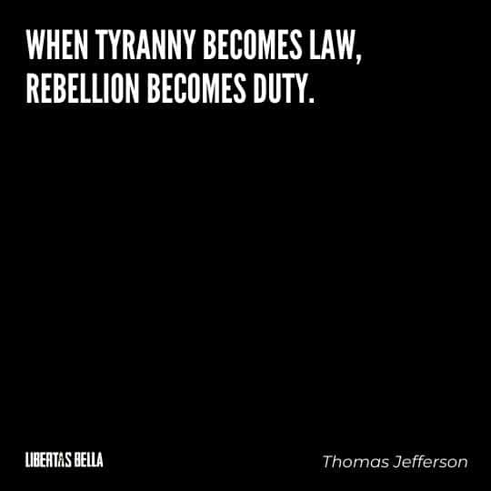 """Tyranny quotes - """"When tyranny becomes law, rebellion becomes duty."""""""