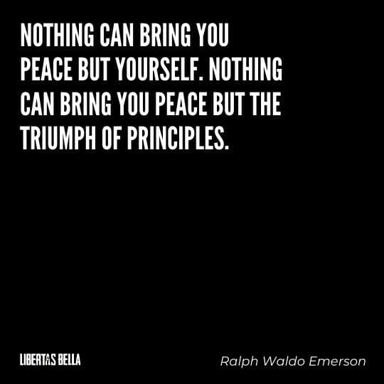 """individuality quotes - """"Nothing can bring you peace but yourself. Nothing can bring you peace but..."""""""
