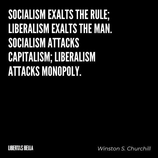 """individuality quotes - """"Socialism exalts the rule; liberalism exalts the man..."""""""