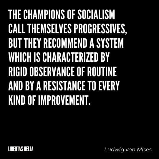 """Capitalism quotes - """"The champions of socialism call themselves progressives, but they recommend..."""""""