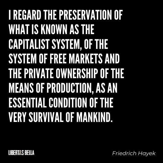"""Capitalism quotes - """"I regard the preservation of what is known as the capitalist system, of the system of free markets..."""""""