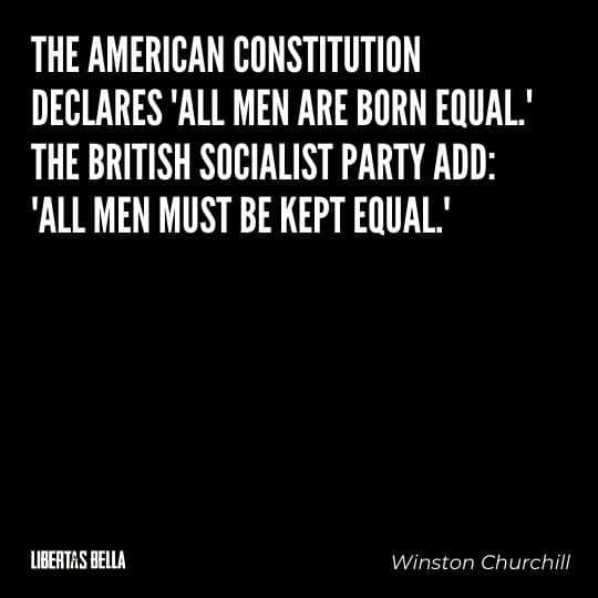 """Socialism quotes - """"The American constitution declares 'all men are born equal..."""""""