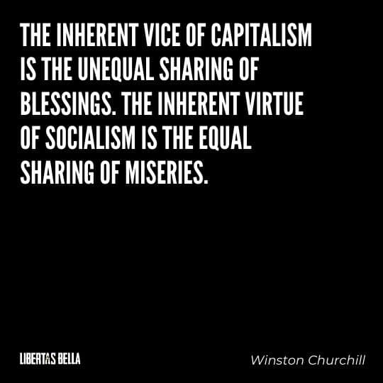 """Socialism quotes - """"The inherent vice of capitalism is the unequal sharing of blessings. the inherent..."""""""