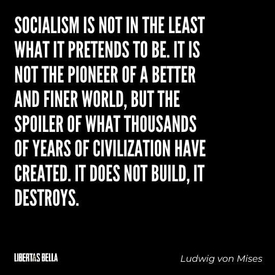 """Socialism quotes - """"Socialism is not in the least what it pretends to be. It is not the pioneer of a better and finer world, but the spoiler..."""""""
