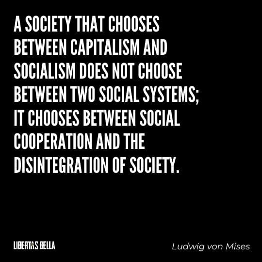 """Socialism quotes - """"A society that chooses between capitalism and socialism does not choose between two..."""""""
