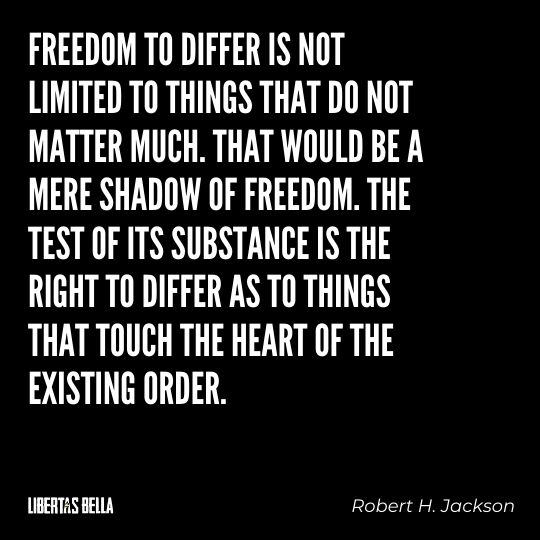 """Freedom of speech quotes - """"Freedom to differ is no limited to things that do not matter much. That would be a mere shadow..."""""""