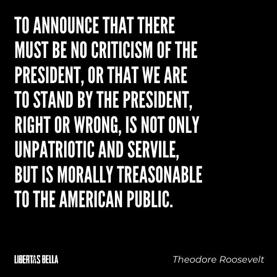 """Freedom of speech quotes - """"To announce that there must be no criticism of the president, or that we are to stand by the president..."""""""