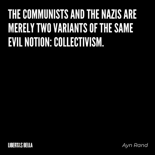 """Freedom of speech quotes - """"The communists and the nazis are merely two variants of the same evil..."""""""