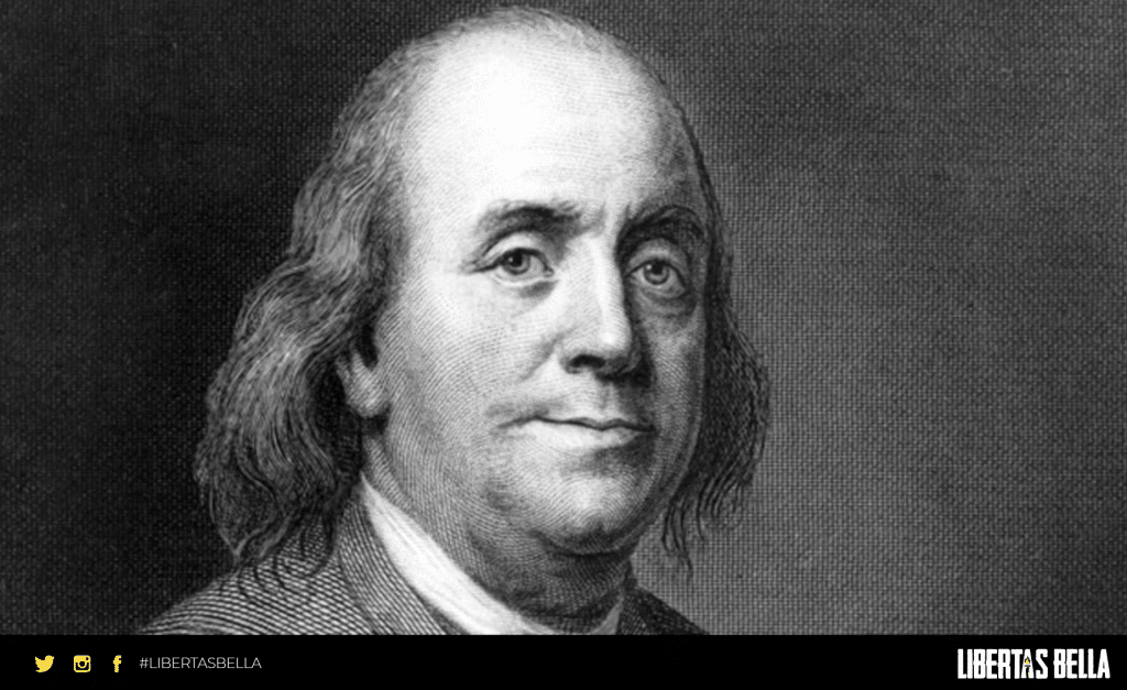 Benjamin Franklin Quotes - grayscale image of Benjamin