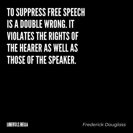 """frederick douglass quotes - """"To suppress free speech is a double wrong. It violates the rights of the hearer as well as those of the speaker."""""""